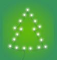 abstract christmas tree with lighting garland vector image