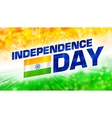 abstract Indian Independence Day background vector image vector image