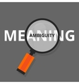 ambiguity ambiguous search find above real vector image vector image