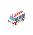 ambulance car isometric auto vector image vector image