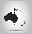 australia and oceania map icon flat australia vector image