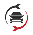 auto service logo car repair icon vector image vector image