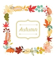 Background of autumn leaves in shape for greeting vector image vector image