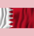 bahrain realistic waving flag national country vector image