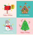 basic rgbset cute christmas cards vector image