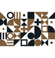 bauhaus art pattern background vector image