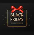 black friday sale banner poster logo vector image vector image