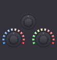 black round buttons volume or speed selector vector image vector image
