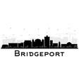 bridgeport connecticut city skyline with black vector image vector image