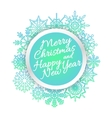 Bright colorful card with snowflakes vector image vector image