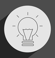 bulb light vector image