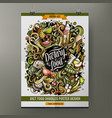 cartoon hand drawn doodles diet food poster design vector image