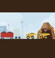 coal industry mine metallurgy vector image vector image