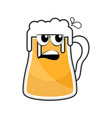 colored angry beer mug icon vector image vector image