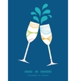 colorful horizontal ogee toasting wine vector image vector image