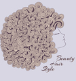 Curly Girl vector image