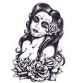 day dead girl 3 vector image