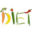 Diet sign vector image vector image