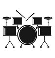 drums set icon simple style vector image vector image
