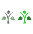 ecology man mosaic of binary digits vector image vector image