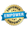 empower round isolated gold badge vector image vector image