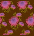 fall flower seamless pattern vector image vector image