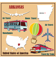 Flat map of Arkansas vector image vector image