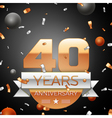 Forty years anniversary celebration background vector image