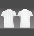 golf checked polo shirt vector image vector image