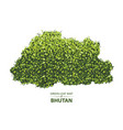 green leaf map of bhutan of a vector image vector image