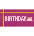 Happy Birthday Design element vector image vector image