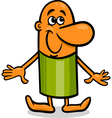 happy guy cartoon vector image vector image