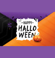 happy halloween white old paper and halloween vector image