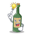 have an idea wine bottle character cartoon vector image