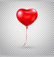 heart balloon red heart glossy balloon isolated vector image vector image