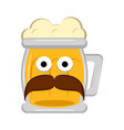 hipster beer character vector image vector image