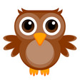 isolated cute owl vector image vector image