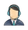 Isolated operator man design vector image vector image