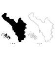 jizan region map vector image vector image