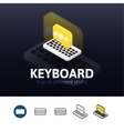 Keyboard icon in different style vector image vector image