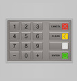 Keypad of automated teller machine