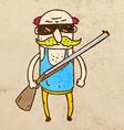 Man with a Rifle Cartoon vector image