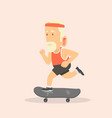 man with skateboard vector image vector image