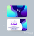 modern business card design with vibrant bold vector image vector image