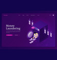 money laundering isometric landing page banner vector image