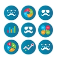 Mustache and Glasses icons Hipster symbols vector image vector image