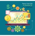 News from Finance Market vector image