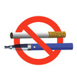 no smoking no vaping sign ban cigarette and vector image