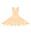 Orange ballet dress vector image vector image