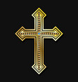 orthodox christian cross vector image vector image